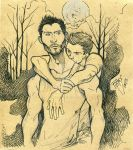 Sterek ink and pencil by Slashpalooza