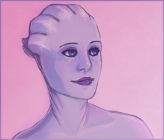 ME: Liara speedpaint thing by Weissidian