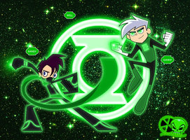 Green Lantern: Randy and Danny by skull1045fox