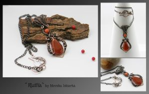 Rutha- wire wrapped pendant by mea00