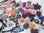 My newest polymer clay charms for 2015 by bampira