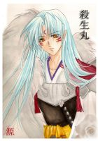 Sesshomaru -- watercolor by Setomi