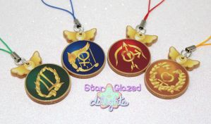 Sailor Moon SuperS Crystal Henshin Wands Charms by StarGlazedDelights