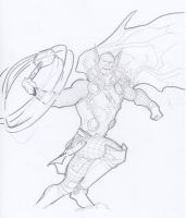 Thor morning sketch May10th by SpiderGuile