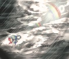 Even rainbows have rainy days by dreampaw