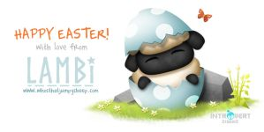 Happy Easter from Lambi! by ClaireAdele