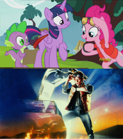 Back To The Future Reference in My Little Pony. by brandonale