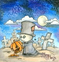 Gravedigger and the Pumpkin by Meggyb