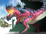 Fire-Breathing Carnotaurus by Dragonith