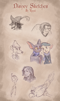 Disney Sketches Compilation by Kurozora-Konoi