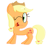 MS Paint Applejack by itsacandytime
