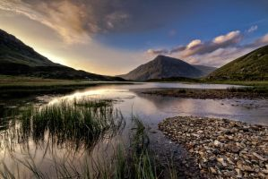 Llyn Idwal at sunset by CharmingPhotography
