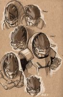 Krogan faces by Kobb
