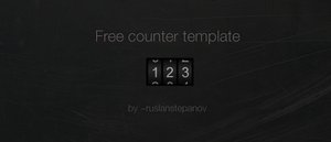 Free Counter Template by ruslanstepanov