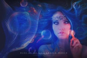 Blue as my underwater world by dreamswoman