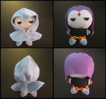 Chibi Raven from Teen Titans plush by Miss-Zeldette
