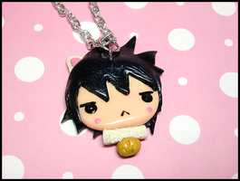 Updated Kitty Sasuke Necklace by GrandmaThunderpants