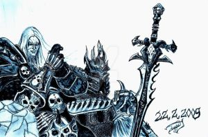 Arthas - Wotlk- Lich King wow by Ekahuei
