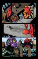 Spiderman sample page 1 color by mdavidct