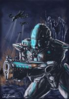 mecha speedpainted by atrellus31