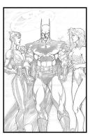 Batman and his Women by sunny615