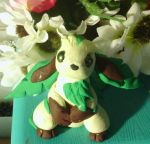 Leafeon Clay Figurine by boogeybug