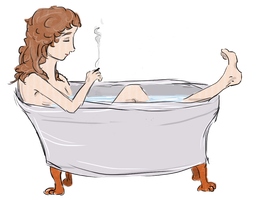 Adele in the tub by mille-nium