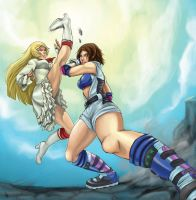 Lili vs Asuka by Cpaek
