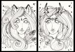 Lady fox and Lady deer by Kattvalk