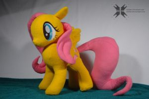 Custom Fluttershy with movable head and wings 2 by Oblitor