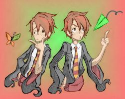 Fred and George Weasley by sango562