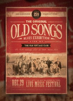 Vintage Poster Template Vol.1 by IndieGround