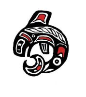 haida whale with colour by margotMEANIE