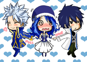Gray, Juvia and Lyon (Love Triangle) by JessiecaYeo
