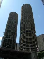 Marina City Stock 2 by WindyCityStock