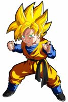Ssj Son Goten coloured by cosmicgirl95