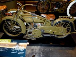 1920 Harley Davidson Opposed 2 Cylinder   left by Caveman1a