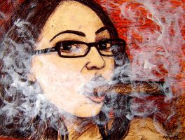 Smoking with Specs by amoxes