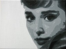 Audrey Hepburn by Fox-in-the-Box