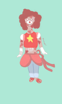 Strawberry quartz (Steven + Padparadscha fusion) by Emma-bean