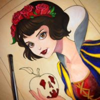 Snow White WIP by chrissie-zullo