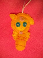 FLUTTERSHY BABY HANDSEWN PONY ORNAMENT by grandmoonma