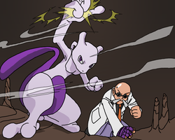 Blaine and Mewtwo by Kai-Lucifer