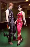 Daryl and Ada: professional zombie slayers by Narga-Lifestream