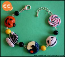 The Nightmare Before Christmas bracelet by citruscouture