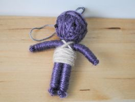 Purple Voodoo String Doll by windowfog