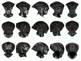 Mass Effect 3, Prothean Head Reference. by Troodon80