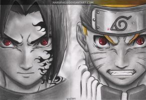 naruto vs sasuke by narufag