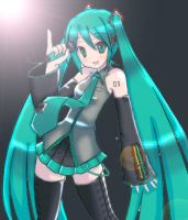 Miku Hatsune by One-Sided-Pancake