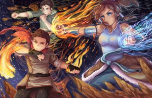 Legend of Korra AWESOMEBENDING by oceantan